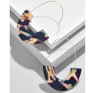 Multicolor Navy Tortoise Acrylic Dangle Earrings